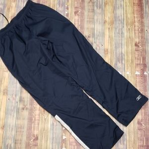 REEBOK MENS MESH LINED WARMUP PANTS SIZE L